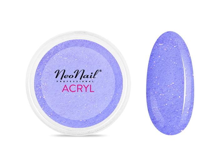 Proszek akrylowy do manicure 5 g - niebieski z drobinkami