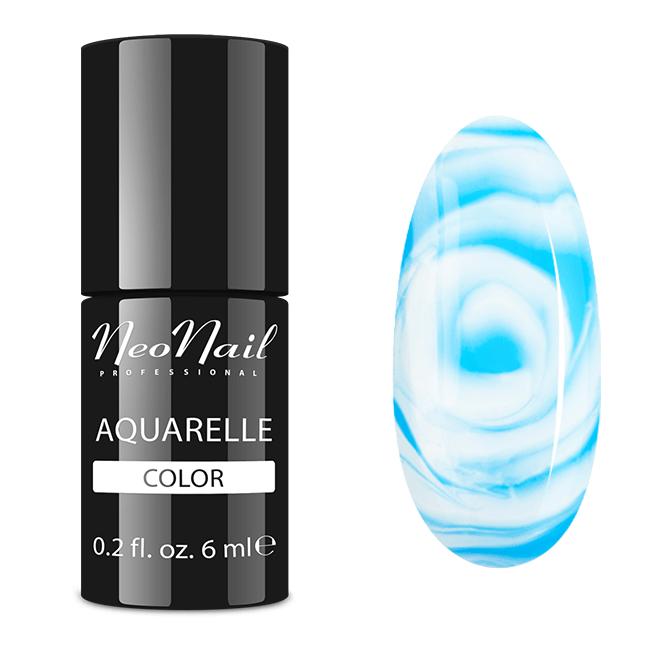 Lakier Hybrydowy do stylizacji paznokci na mokro Blue Aquarelle