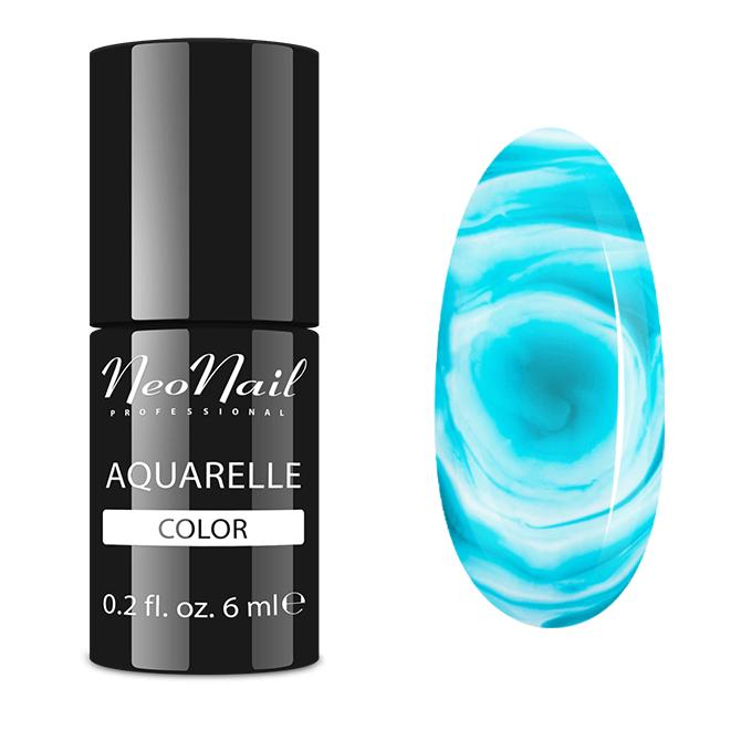Lakier Hybrydowy do stylizacji paznokci na mokro Emerald Aquarelle