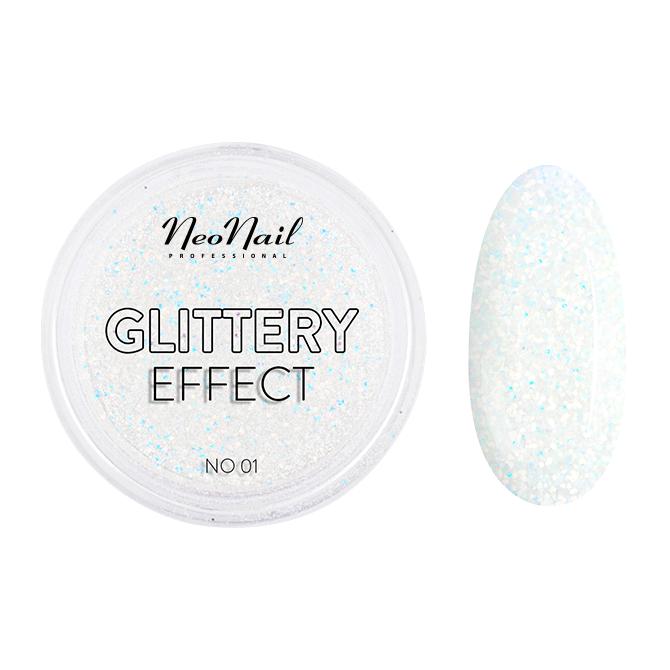 pyłek do stylizacji paznokci Glittery Effect No. 01