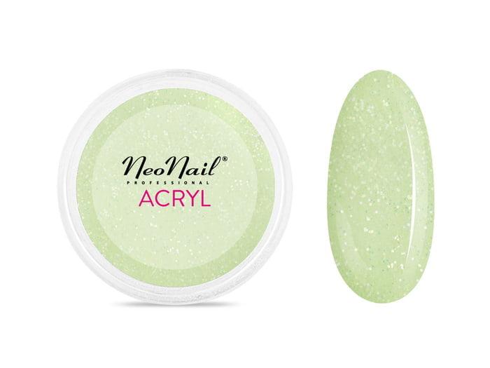 Proszek akrylowy 5 g - jasna zieleń z drobinkami do manicure