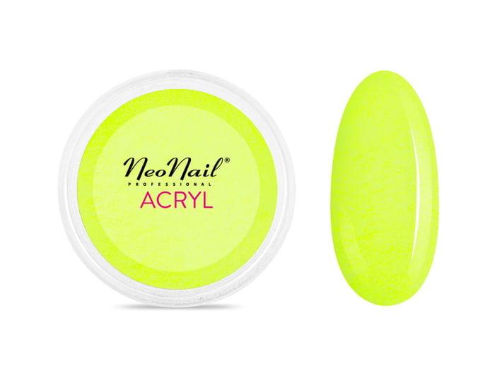 Proszek akrylowy 5 g - neonowa żółć do manicure