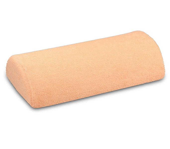 Poduszka pod rękę frotte - brzoskwiniowa do manicure
