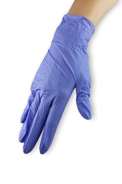 Rękawiczki nitrylowe - fioletowe, rozmiar M wysoka jakość