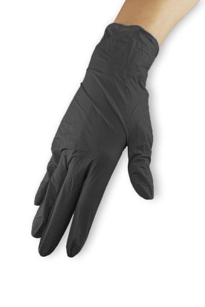 Rękawiczki nitrylowe - czarne, rozmiar M wysoka jakość