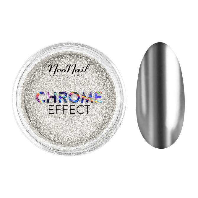 pyłek do stylizacji paznokci Puder Chrome Effect – Silver