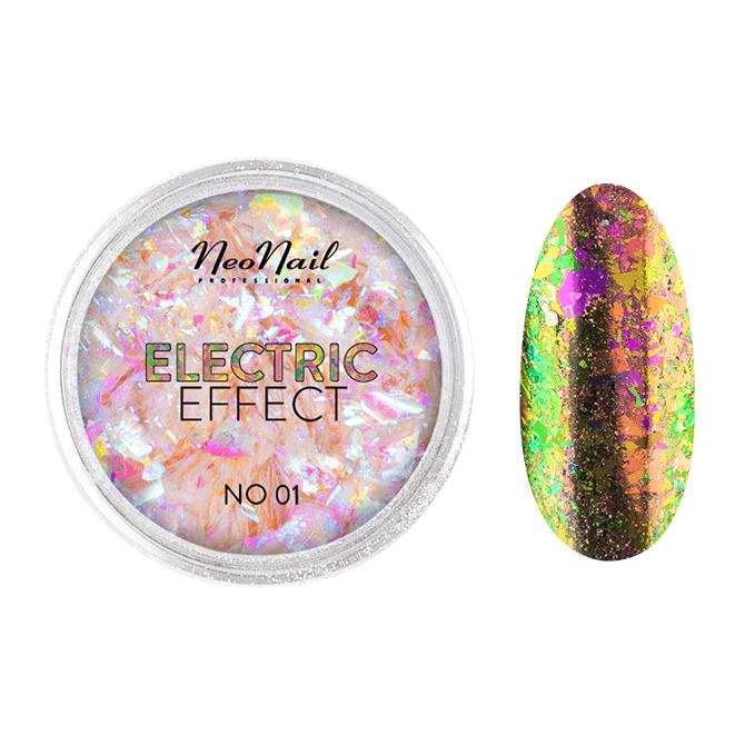 Pyłek Electric Effect 01 do stylizacji paznokci metodą hybrydową