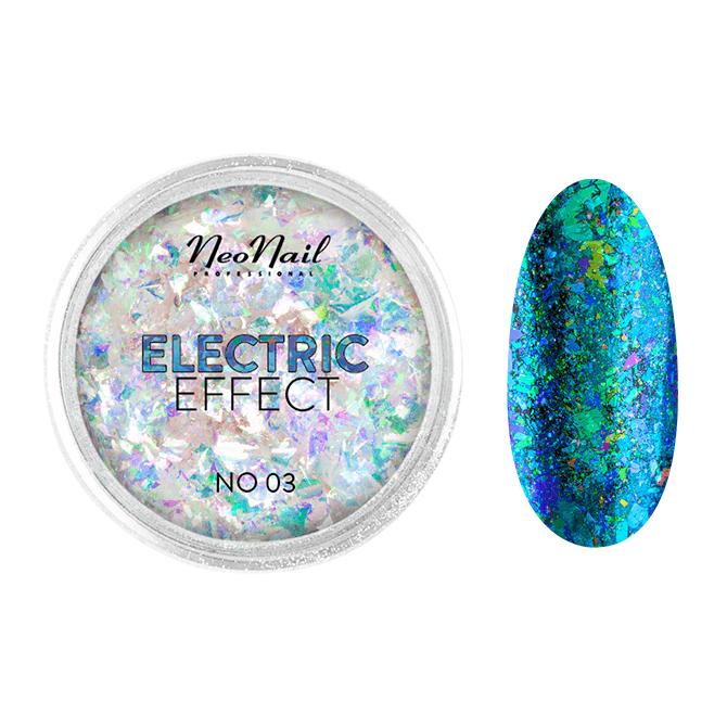 Pyłek Electric Effect 03 do stylizacji paznokci metodą hybrydową