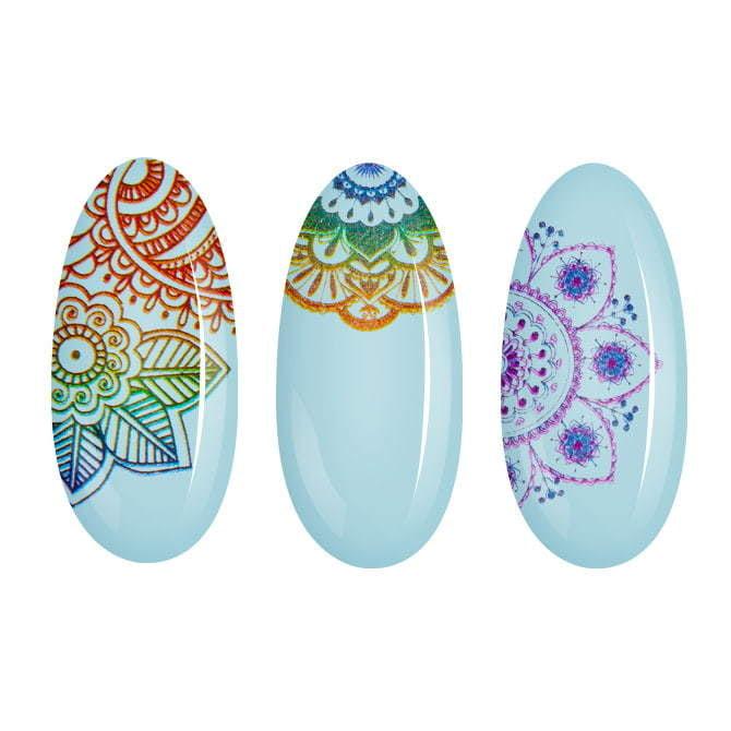 Naklejki wodne ze wzorami do zdobienia paznokci