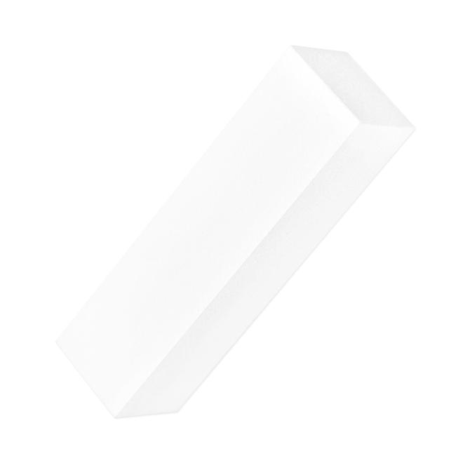 Czterostronny blok polerski - biały do paznokci