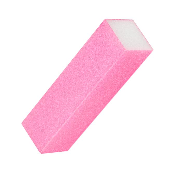 Czterostronny blok polerski - różowy do paznokci