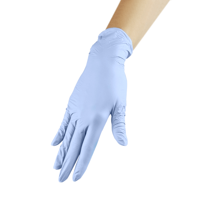 Rękawiczki nitrylowe niebieskie - L