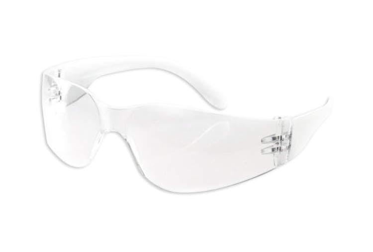 Okulary ochronne wygląd białe