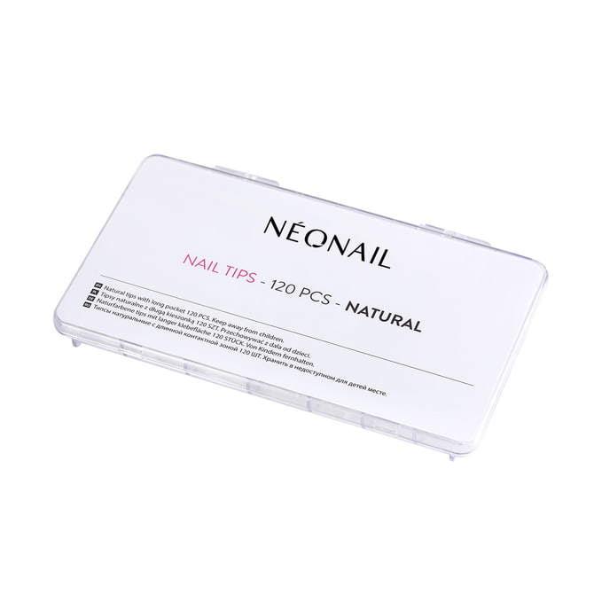 Tipsy naturalne 120 szt. z długą kieszonką NEONAIL