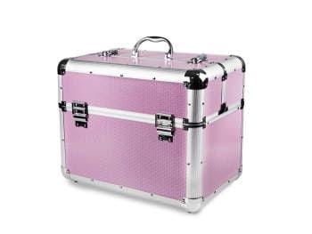 Kuferek kosmetyczny duży XXL różowy wysoka jakość