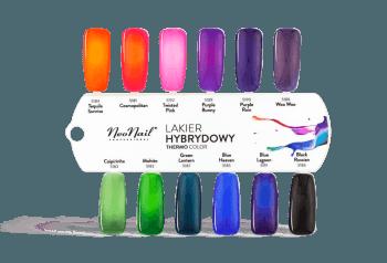 wzornik z kolorami lakierów hybydowych