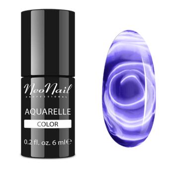 Lakier Hybrydowy do stylizacji paznokci na mokro Violet Aquarelle