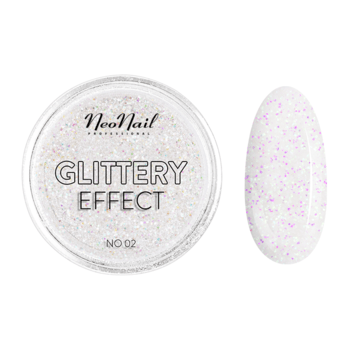 pyłek do stylizacji paznokci Glittery Effect No. 02