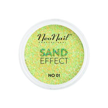 Drobny pyłek Sand Effect do stylizacji paznokci metodą hybrydową w odcieniach żółto-zielonych