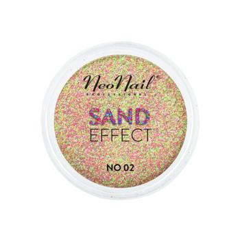 Drobny pyłek Sand Effect do stylizacji paznokci metodą hybrydową w odcieniach różowo -zielonych.