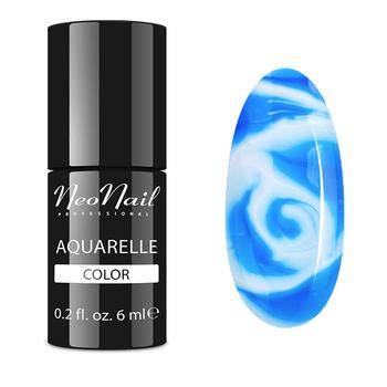 Lakier hybrydowy do stylizacji paznokci w niebieskim odcieniu.