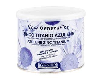 Wosk do depilacji 400 ml - azulenowy do domowego SPA
