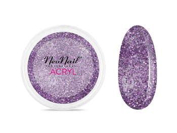 Proszek akrylowy 5 g - fioletowy z brokatem do manicure