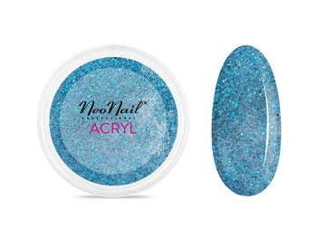 Proszek akrylowy 5 g - niebieski z brokatem do manicureq
