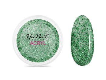 Proszek akrylowy 5 g - zielony z brokatem do manicure