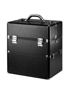 Kuferek kosmetyczny XXL - czarny matowy wysoka jakość