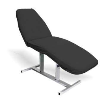 Pokrowiec frotte na fotel kosmetyczny - Czarny  do gabinetów