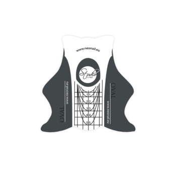 Szablony STUDIO LINE Oval - 500 szt.  do manicure
