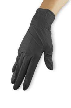 Rękawiczki nitrylowe - czarne, rozmiar S wysoka jakość