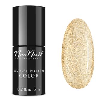 lakier do manicure hybrydowego w kolorze Glitter Gold 3626-1