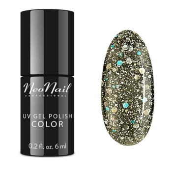 lakier manicure hybrydowego w kolorze Glitter Galaxy