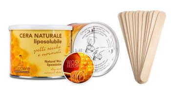 Wysokiej jakości Wosk miodowy do depilacji + szpatułki