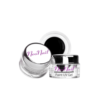 Paint UV Gel NeoNail 5 ml - Black do manicure