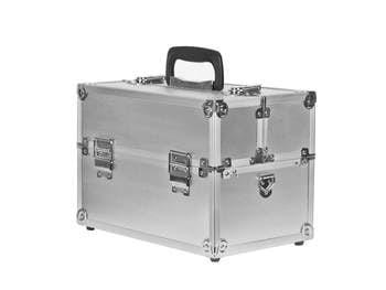 Kuferek kosmetyczny mały L srebrny wysoka jakość