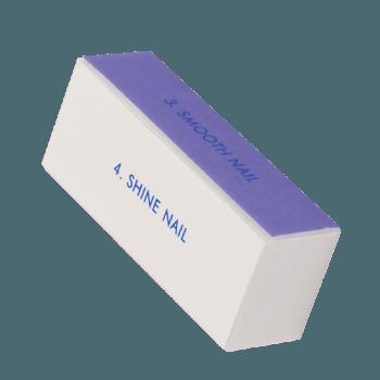 Polerka do paznokci 4 - stronna fioletowo-różowa