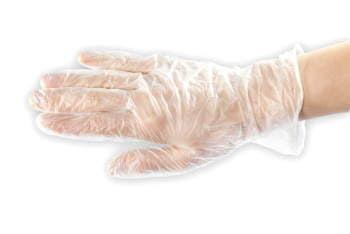 Rękawiczki bezpudrowe winylowe 100 szt., rozmiar M wysoka jakość