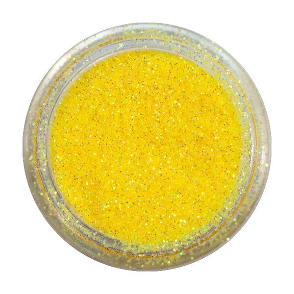 Brokat Irys Żółty (0.2mm) do zdobienia paznokci